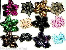 Wholesale Lot 12 PC Assorted Fashion Costume Jewelry Flower Rings 1 Dozen