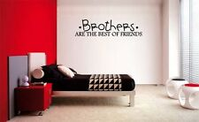 BROTHERS ARE THE BEST OF FRIENDS DECAL WALL VINYL BOYS STICKER ROOM LETTERING