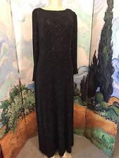 CACHET 14 BLACK DRAPED OPEN BACK SILVER SPARKLE LONG SLEEVE FULL LENGTH DRESS