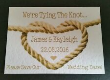 16 Tying The Knot Heart *BEACH THEME/NAUTICAL* Save The Date Wedding Cards