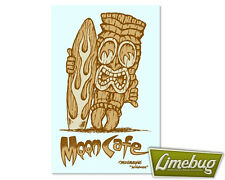 Mooneyes Tiki Moon Cafe Sticker Surf Decal VW Beetle Hotrod American Stickers