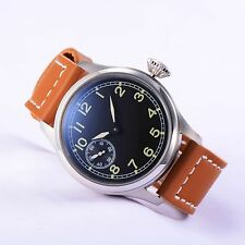 Pilot Sea-Gull 3600 Hand Winding Dial Watch Brown Strap