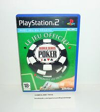 JEU PS2 COMPLET WORLD SERIES OF POKER