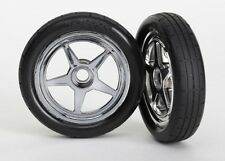 Traxxas [TRA] Mounted Front Wheels and Tires Funny Car 6975 TRA6975