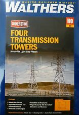 Walthers HO #933-3121 High-Voltage Transmission Tower -- pkg(4) - Kit -