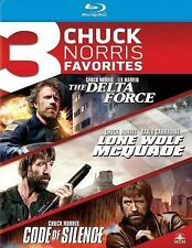 The Delta Force/Lone Wolf McQuade/Code of Silence (Blu-ray, 2014, 3-Disc) New