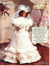 Crochet Ladies of Fashion PATTERN fit Barbie Megan's Wedding Gown Needlecraft
