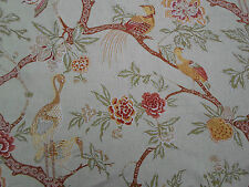 Schumacher Curtain Fabric ~ 'Arbre Chinois' Sage Colourway 5.5 Metres 100% Linen