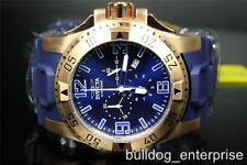 Mens Invicta 11907 Excursion Sport Gold Plated Blue Chronograph Watch New