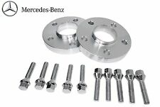 2Pc Mercedes Benz 15mm Thick Rear Hub Centric Wheel Spacers 66.56 W/ Lug Bolts