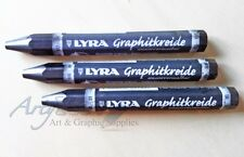3 x Lyra Water Soluble Graphite Crayons / Jumbo pencils (2B, 6B, 9B - 1 of each)