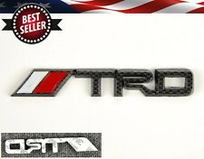 "5.7"" x 0.8"" 3D ABS TRD Carbon Emblem Decal Badge Stickers For Toyota Scion..."