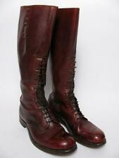 MP VTG MOUNTED POLICE TALL LEATHER RIDING LACED MAN OXBLOOD BILTRITE BOOTS ~10.5