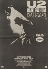 1/4/89Pgn22 Advert: Motion Picture Now On Video U2 'rattle And Hum' 15x11