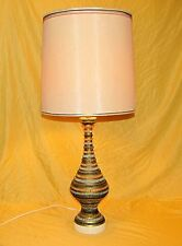 Vintage Lamp Pottery Art Creative Corp Quartite Mosaic 1959 Matching Shade 34.5""