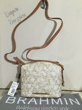 NWT BRAHMIN MINI DUXBURY PARKER BEIGE/MULTI PYTHON LEATHER CROSSBODY K50746BG