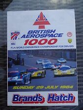 British Aerospace 1000 World Endurance Race Racecard 1984