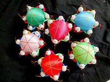 3 X CHINESE 6 MEN BOY COLOR PIN CUSHION - SMALL - SEWING CRAFT NEW YEAR PARTY