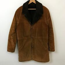 VTG 60s 70s Sears Long Corduroy Sherpa Lined Jacket Mens SZ L Rancher Jacket