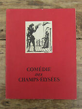 ANCIEN PROGRAMME THEATRE COMEDIE DES CHAMPS ELYSÉES