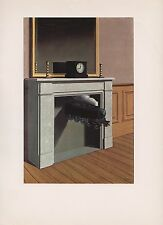 """1972 Vintage MAGRITTE """"TIME TRANSFIXED - DUREE POIGNARDEE"""" TRAIN Art Lithograph"""