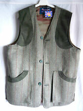 GRASSROOTS BNWT 100% WOOL TWEED SHOOTING GILET SIZE M 44-46 CHEST BRITISH MADE