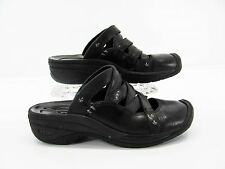 KEEN 5474 Womens Black Leather Strappy Clogs Mules Shoe 8.5M Pre Owned #F7
