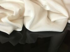 "Beautiful 100% Silk Ivory Crepe Fabric Bridal Dress Cloth Garment 44""112cm Wide"