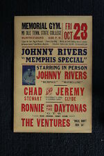 Johnny Rivers Tour Poster With The Ventures