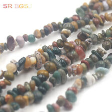 6-8mm Ocean Jasper Chips Spacer Beads Natural Gemstone Gems Bead Strand 34""