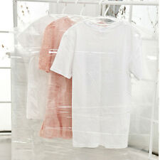 5Pcs Garment Dress Clothes Suit Dustproof Cover Transparent Plastic Storage Bag