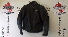 Alpinestars Ladies Stella TX-1 Black Leather Motorcycle Jacket EU 40 UK 8 EXC