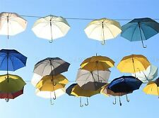 MANY UMBRELLAS BLUE SKY PHOTO ART PRINT POSTER PICTURE BMP2069A