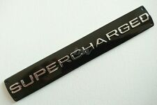 SUPERCHARGED BADGE FOR RANGE ROVER SPORT VOGUE HSE AUTOBIOGRAPHY SILVER/BLACK