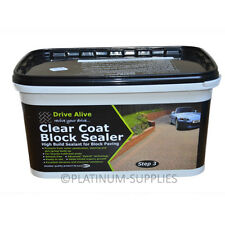 DRIVE ALIVE CLEAR COAT BLOCK SEALER BLOCK PAVING, PATHS AND DRIVEWAYS.