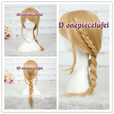 How to train your dragon 2 Astrid blonde Braid cosplay Hair Full Wig +a wig cap