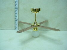 Dollhouse Miniature Battery Operated Light -Non-Working Ceiling Fan #C36W