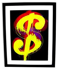 Andy Warhol (After) Museum Framed Dollar Sign Print Lot 1797641
