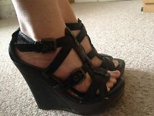 River Island Black Wedges Size 3