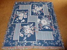 Nautical Floral Tapestry Afghan Throw