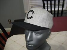 MENS Crooks & Castles SMU Chain CASTLE SNAPBACK Hat GRAY/Black NWT $40