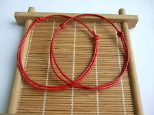 1 x Red Leather Cord Lucky Bracelet Anklet Adjustable For Men Women Surf