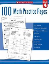 100 Math Practice Pages (Grade 4), Scholastic, Good Book