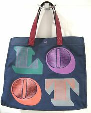 EINE for Anya Hindmarch Designer LOOT Canvas Large Tote Bag Shopper Rare