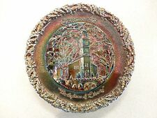 Fenton Carnival Glass Plate SET of 8 CHRISTMAS Collector Plates 1970's