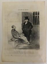 Daumier Charivari Gens de justice avocats lithographie XIXème siècle