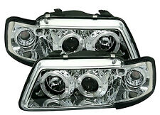 Audi A3 (1995-2000) Cromo Halo Angel Eye Halo Proyector Frente Faros Luces