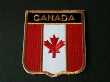 BACKPACKERS NATIONAL COUNTRY SHIELD FLAG SEW/IRON ON PATCH:- CANADA