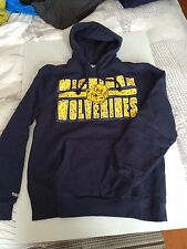 NEW Mitchell & Ness Michigan Wolverines NCAA men's pullover hoodie sweatshirt