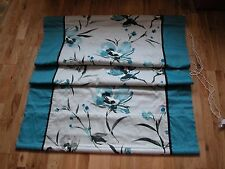 NEXT TEAL BLUE NARA FLORAL ROMAN BLIND 90 X 120CM + FITTINGS